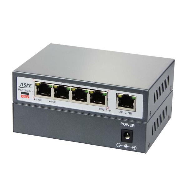 4 PoE Power over Ethernet Desktop Switch 10//100 Mbps IEEE802.3AF US SH 6-Port