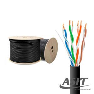 สายแลน Cat5e Outdoor มีไฟ CCA+AC ทองแดงแท้ 0.75 mm. (300m./ม้วน) รุ่น ASIT-UTP5007-UTP
